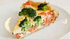 Запеченный лосось с брокколи