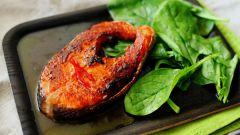 Острый лосось с апельсиновым соусом