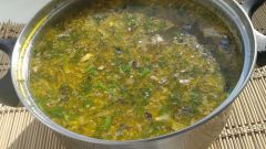 How to cook soup of saury