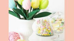 Тюльпаны из киндер-сюрпризов