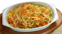 Салат из свежей капусты с уксусом