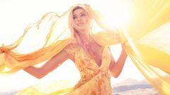 Делаем летнее платье из палантина