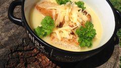 Как приготовить суп-пюре с гренками