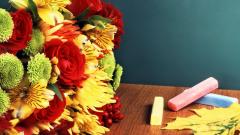 Букет на 1 сентября: какие цветы дарить учителям