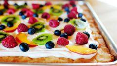 Как сделать фруктовую пиццу