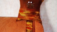 Как сделать кото-подушку в технике мокрого валяния из шерсти