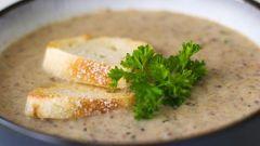 Как приготовить простой суп-пюре из шампиньонов