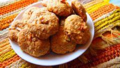 Простой рецепт вкусного печенья с овсяными хлопьями, медом и орехами