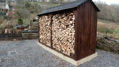 Как сделать навес для дров