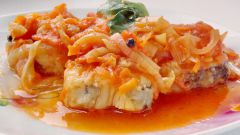 Рыба с овощами под маринадом