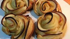 Как сделать розы из яблок и слоеного теста
