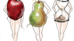 Диета с фигурой яблоко