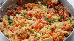 Куриное рагу с кориандром и рисом