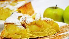 Шарлотка из яблок с апельсинами