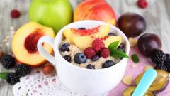 Щадящая диета на основе овсянки и фруктов