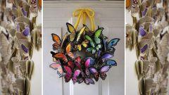 Венок из бабочек