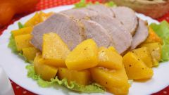 Свинина, фаршированная тыквой в духовке