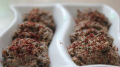 Пхали из баклажана для сыроеда