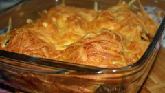 Гречка с рыбой в духовке под сметанным соусом