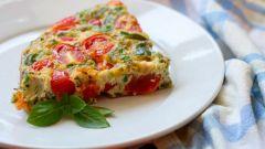 Фриттата из овощей в духовке