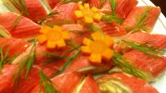 Простой рецепт закуски из крабовых палочек