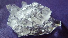 How to grow a crystal at home with salt