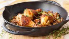 Как пожарить курицу на сковороде