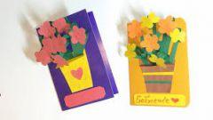 Как сделать открытку на день рождения бабушки своими руками