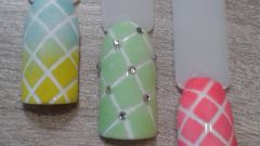 Мастер-класс.  Простой дизайн ногтей с использованием акриловой пудры.