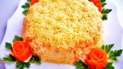 Слоёный салат с сёмгой на Новый год