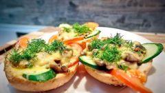 Простые рецепты горячих бутербродов