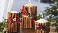 3 простых способа украсить свечи для новогоднего декора дома