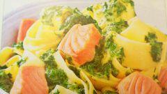 Как приготовить вкусную лапшу с лососем