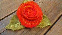 Как сделать валяную розу из шерсти: мастер-класс