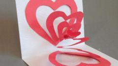 """Как сделать 3D-открытку """"Два сердца"""""""