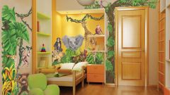 Декор детской комнаты в тропическом стиле