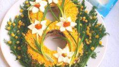 Как приготовить салат в форме восьмерки на 8 марта