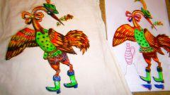 Как закрепить на одежде роспись, сделанную фломастерами, перманентными маркерами