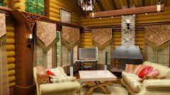 Стиль кантри в интерьере гостиной