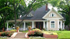 Единство стиля дома и окружающего его сада