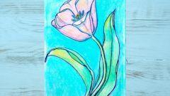 Как нарисовать тюльпаны поэтапно