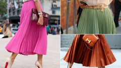 What combination of skirt-pleated