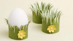 Простая пасхальная подставка для яйца