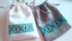 Как сшить простой мешочек для подарка