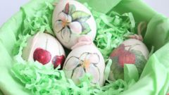 Способ украсить декоративные пасхальные яйца