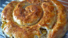 """Сытный пирог с орехами и сыром """"Гауда"""""""