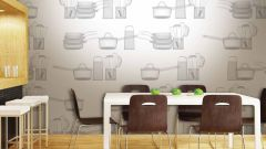 Select the Wallpaper of the future kitchen