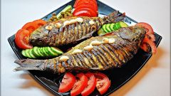 Carp baked with eggs