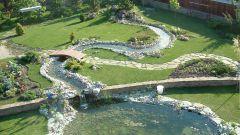 Как создать искусственный ручей в саду
