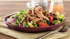 Овощной салат со свининой